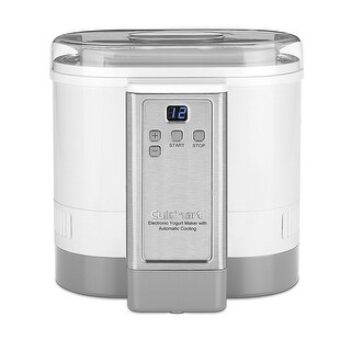 Cuisinart CYM-100 Electronic Yogurt Maker with Automatic Cooling, White