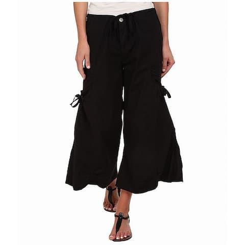 XCVI Women's Pants Black Size Small S Stretch Cargo Gaucho Cropped