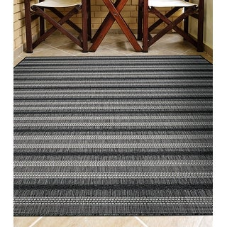 Link to Ravine Edgemont Dark Gray Indoor/Outdoor Area Rug Similar Items in Transitional Rugs