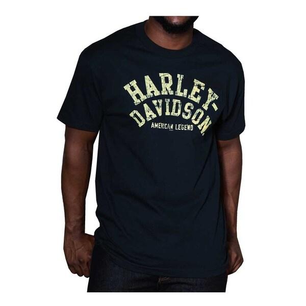 Harley-Davidson Men/'s Distressed Worn Chest Pocket Short Sleeve T-Shirt Navy