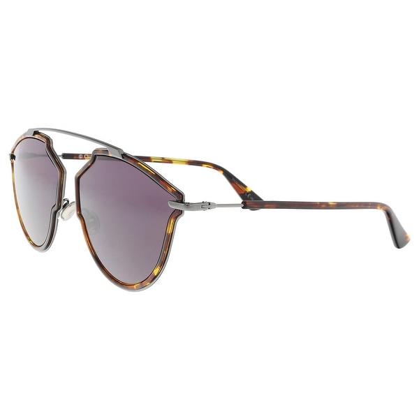 5ddadca1913 Christian Dior DIORSOREALRISE 0H2H Havana Irregular Sunglasses - 58-17-145