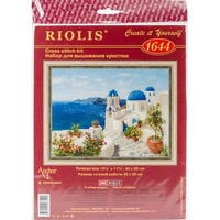 "Santorini Counted Cross Stitch Kit-15.75""X11.75"" 14 Count"