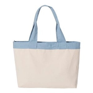 HYP 15.3L Zippered Tote - Natural/ Sky Blue - One Size