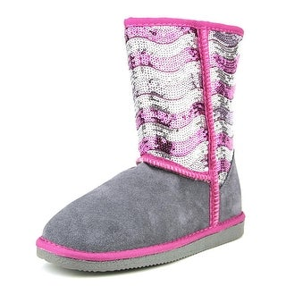 Lamo Stripy Youth Round Toe Suede Gray Winter Boot