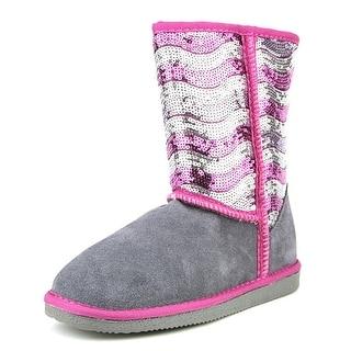 Lamo Stripy Youth Round Toe Synthetic Gray Winter Boot
