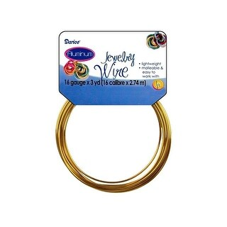 Darice Jewelry Wire Aluminum 16Ga 3yd Gold