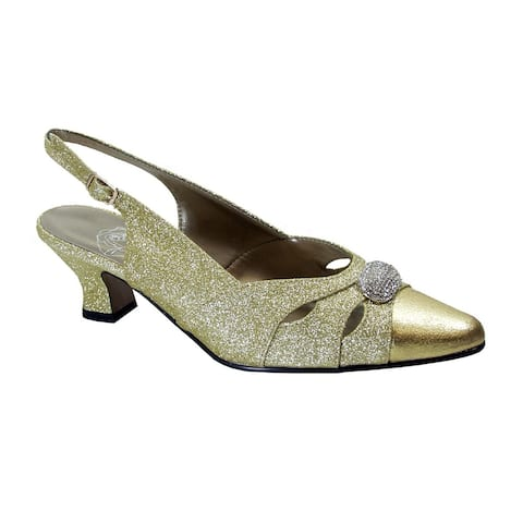 FLORAL Yelena Women's Extra Wide Width Slingback Dress Pumps