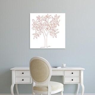 Easy Art Prints Jan Weiss's 'A Tangerine Tree' Premium Canvas Art