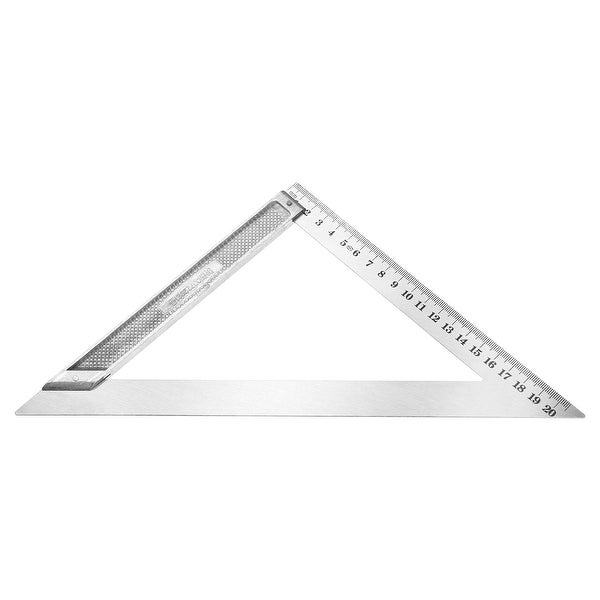 200mm Triangle Square Ruler Stainless Steel Right Angle Woodworking Tool - Metric 0-200mm