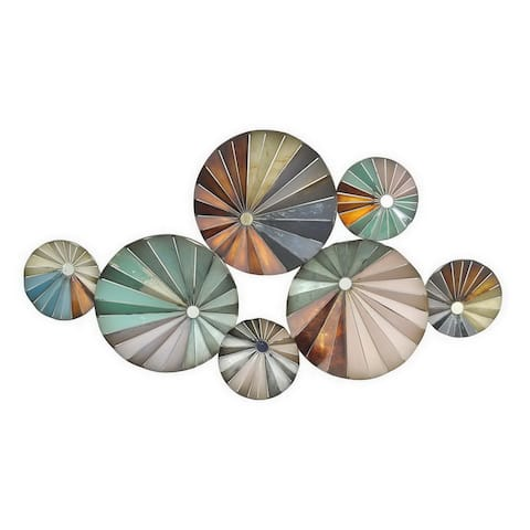 Plutus Brands Wall Decor in Multi-Colored Metal