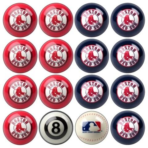 MLB Boston Red Sox Baseball Billiard Balls Complete Set of 16 Balls - White
