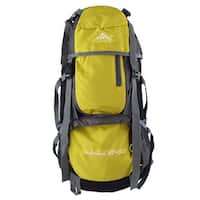 HWJIANFENG Authorized Outdoor Riding Pack Sport Bag Hiking Backpack Yellow 55L