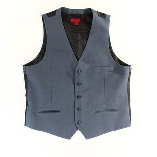 Alfani NEW Blue Steel Mens Size XL Button-Down Pocket Front Suit Vest