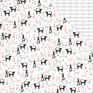 "Meow Double-Sided Cardstock 12""X12""-Kitten Party"
