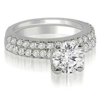 Link to 1.10 CT Round Cut Diamond Solitaire Matching Bridal Set in 14KT Gold - White H-I Similar Items in Wedding Rings