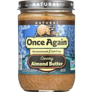Once Again - No Salt Smooth Almond Butter ( 12 - 16 OZ)