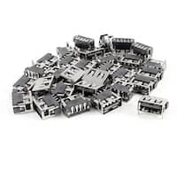 Unique Bargains 30pcs USB A Female Port 180 Degree 4-Pin SMD SMT Jack Soldering Socket