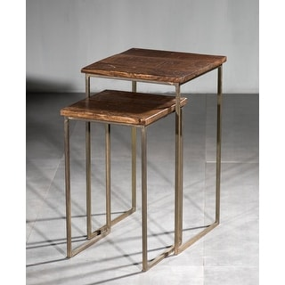 Link to Wooden Iron Square Nesting Table Similar Items in Living Room Furniture