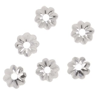 Sterling Silver Delicate Bead Caps 4.5mm (24)
