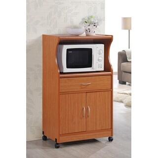 Hodedah Hik77 Cherry Microwave Cart