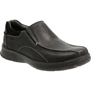Clarks Men's Cotrell Step Bicycle Toe Shoe Black Oily Cow Full Grain Leather