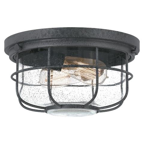 Quoizel Saluda Distressed Iron 2-light Outdoor Flush Mount