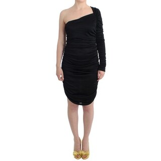 GF Ferre GF Ferre Black One Sleeve Pencil Dress - it42-m