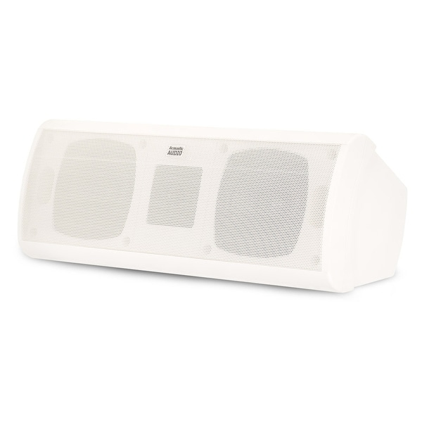 Acoustic Audio AA40CW Indoor 3 Way Center Speaker 500 Watts White Bookshelf
