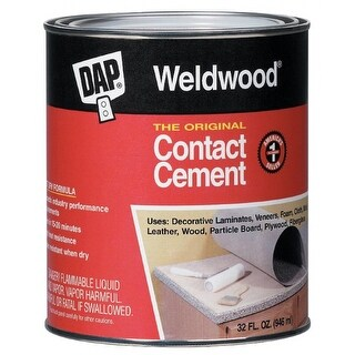 Dap 00272 Weldwood Original Contact Cement, 1 Qt, Tan