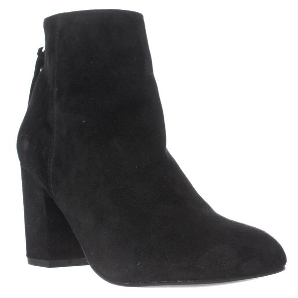 Steve Madden Cynthia Rear Zip Booties, Black Suede