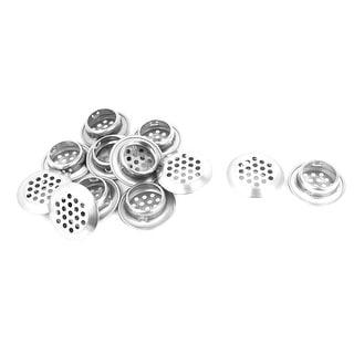 Unique Bargains Home Kitchen Silver Tone 25mm Bottom Dia Cabinet Air Vent Louver 12 Pieces