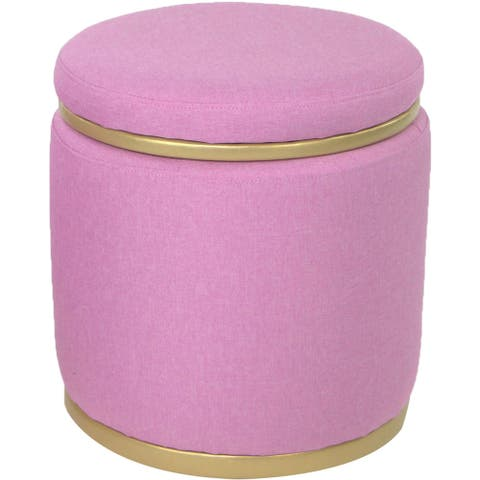 Critter Sitters Pink Vanity Stool with Storage Lid