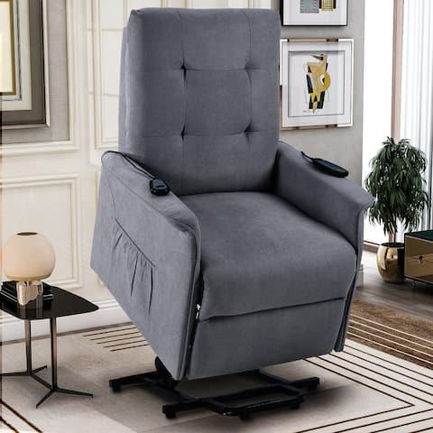 Power Lift Chair for Elderly with Adjustable Headrest Massage Recliner