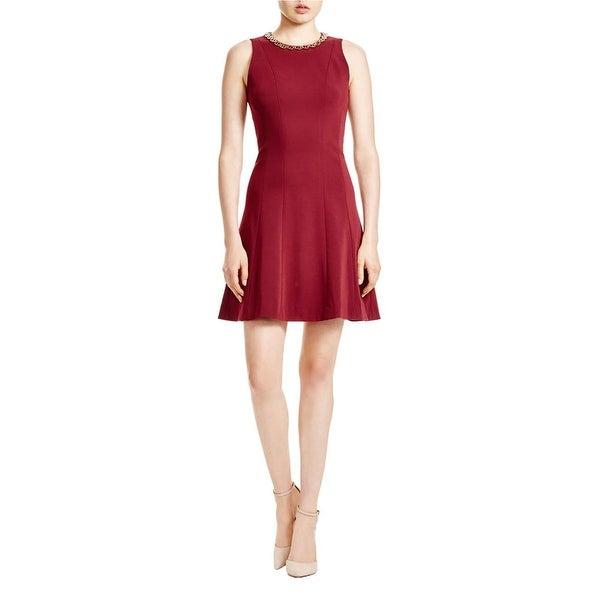 MICHAEL Michael Kors Womens Cocktail Dress Embellished Sleeveless
