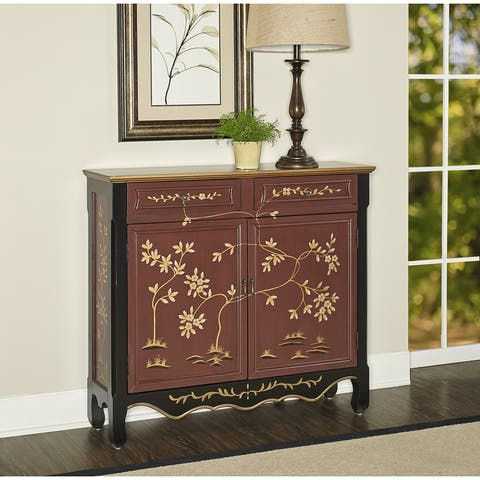 Powell Canton Red Oriental Console