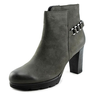 Paul Green Darcy Chain Women Round Toe Leather Gray Bootie