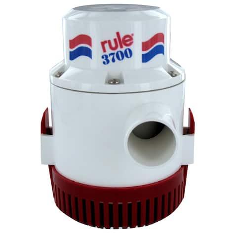 Rule 31500M RULE 3700 GPH NON AUTOMATIC BILGE PUMP 1-1/2 OUTLET 12V - Black