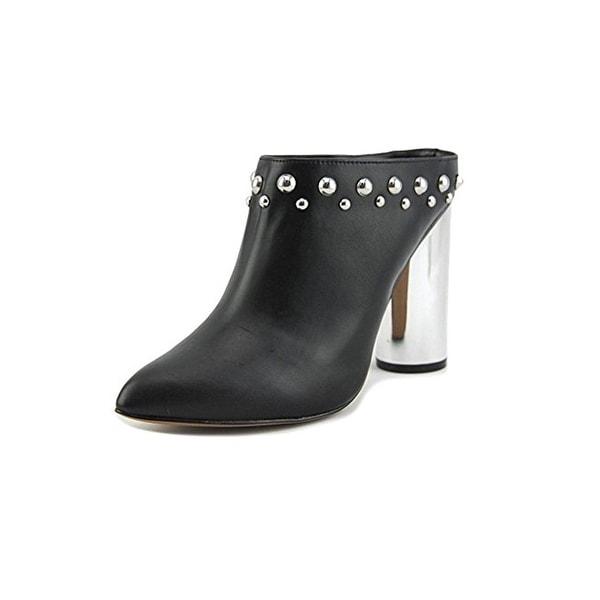 Design Lab Womens Simon Mules Faux Leather Almond Toe