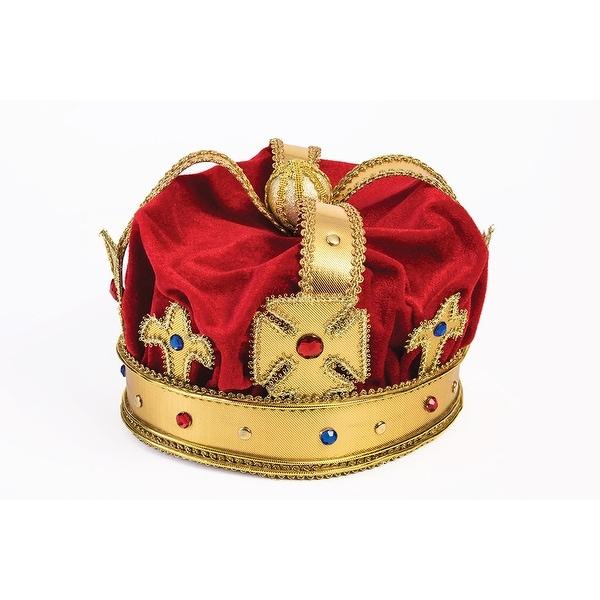Regal King Costume Crown Adult - Red