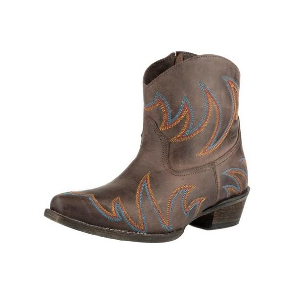 Roper Western Boots Womens Phoenix Emb Brown