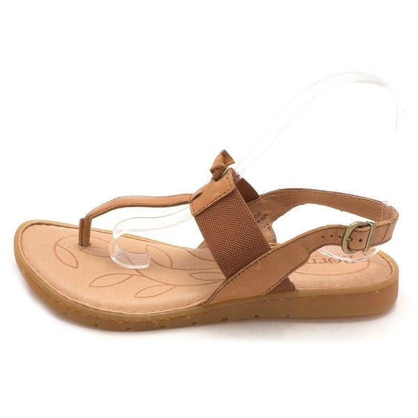 B.O.C Womens Siri Leather Open Toe Casual Slingback Sandals