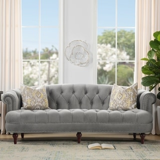 Link to Gracewood Hollow Zeleza Tufted Chesterfield Sofa Similar Items in Sofas & Couches