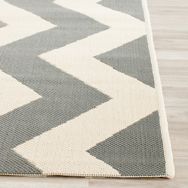 Flat Woven Carpet Olivia-Anthracite//WhiteCheck Pattern Indoor Outdoor