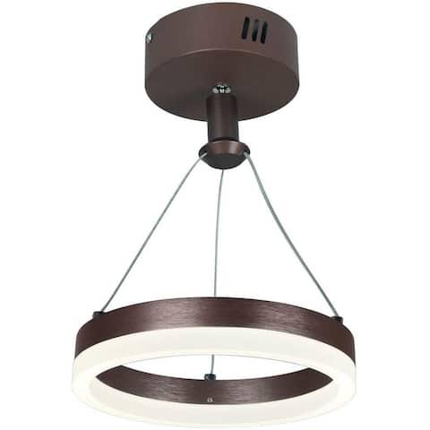 LED circle pendant light Modern Gold Plastice Semi Flush Mount pendant fixture