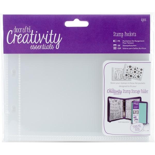 Creativity Essentials A6 Stamp Pockets 6/Pkg-