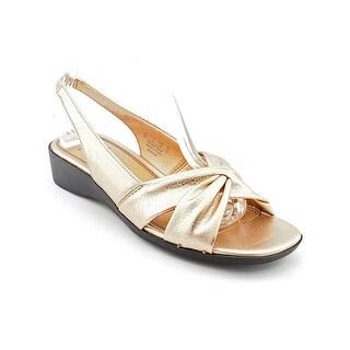 Life Stride Mimosa Women Open-Toe Synthetic Gold Slingback Sandal