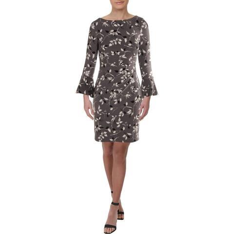 Lauren Ralph Lauren Womens Petites Carla Wear to Work Dress Floral Print