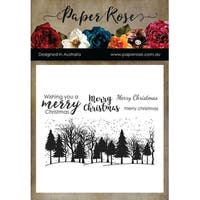 Paper Rose Clear Stamps-Winter Trees