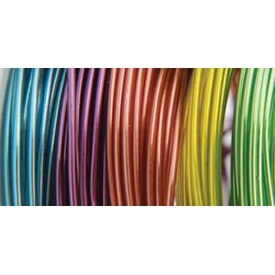Translucent - 22 Gauge 5/Pkg - Plastic Coated Fun Wire Value Pack 9' Coils