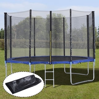 Costway 12FT Trampoline Combo Bounce Jump Safety Enclosure Net W/Spring Pad Ladder